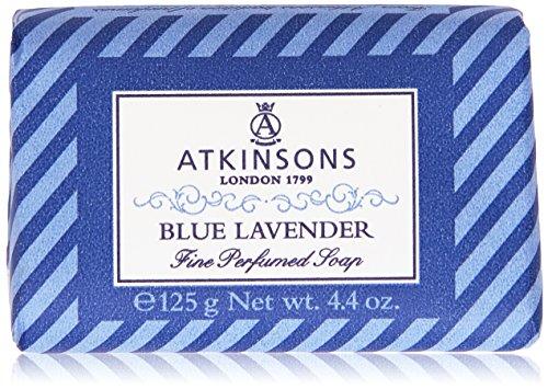Atkinson - Blue Lavender, Sapone raffinato, fragranza classica di Lavanda - 125 g