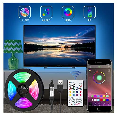 LED TV Retroilluminazione, 3.5m Striscia LED RGB USB alimentata Retroilluminazione TV LED per Android iOS,sincronizzazione app controllo musica per HDTV da 39-80 Pollici, PC Monitor ecc