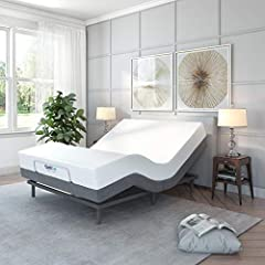 "75"" W x 79"" L x 15"" H Enjoy lifestyle and health benefits with the Adjustable Comfort Adjustable Bed/Ergonomic Bed with programmable elevation positions, head and foot massage, USB ports, and wireless remote Whisper quiet adjustable bed base with sep..."