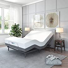 Classic Brands Comfort Upholstered Adjustable Bed Base with Massage, Wireless Remote, Three Leg Heights, and USB Ports-Ergonomic, King