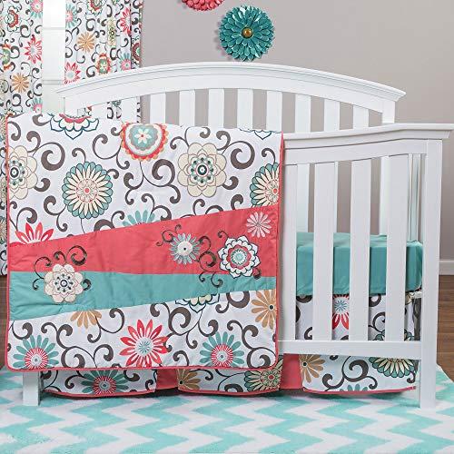 Trend Lab Waverly Pom Pom Play 4 Piece Crib Bedding Set