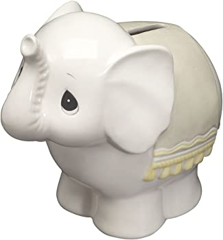 Precious Moments Baby Elephant Bank Ceramic Figurine