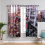 Exclusivo hogar cortinas batgirl vs Spider gwen sala de estar ojal cortina set 254 x 243 cm