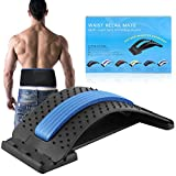{2 IN 1}Back Stretching Device ,Back Support Brace,Multi-Level Lumbar Support Stretcher Spinal,Magnetic Back Massager for Bed & Chair & Car Lower and Upper Muscle Pain Relief,for Men & Women.