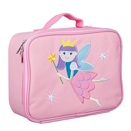 Wildkin Kids Insulated Embroidered Lunch Box Bag for Boys and Girls, Perfect Size for Packing Hot or Cold Snacks for School & Travel, Measures 10 x 7.5 x 4 Inches, BPA-Free, Olive Kids(Fairy Princess)
