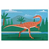 Jigsaw Puzzles for Adults,Coelophysis Prehistoric Dinosaur Jigsaw Puzzles Educational Game Gift 1000 Pieces for Kids Adults Family Puzzles