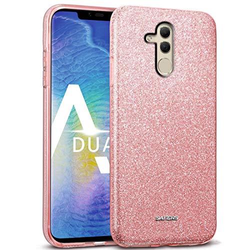 Verco Cover per Huawei Mate 20 Lite, motivo glitterato per Huawei Mate 20 Lite, in silicone TPU, rosa