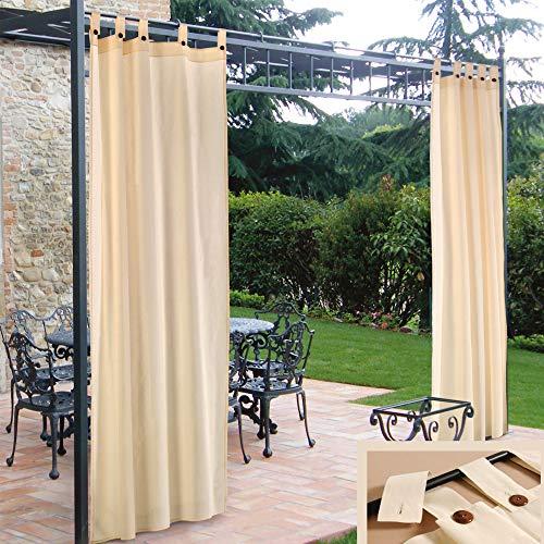 2 Pezzi   Tende da sole con bretelle per laterali Gazebo   Colore Panna   Tendaggi   Tessuto 48% cotone – 52% poliestere   Decorazione casa   Decorazione giardino   Dimensione a tenda 160cm x h 270cm