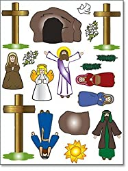 Easter Ressurection Sceen Sticker Sets