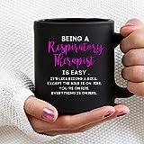 Being Respiratory Therapist - Tazza nera per terapeuta respiratoria Respiratoria Therapist Mug Rrt Rt Rt Rt - 28 oz su due lati