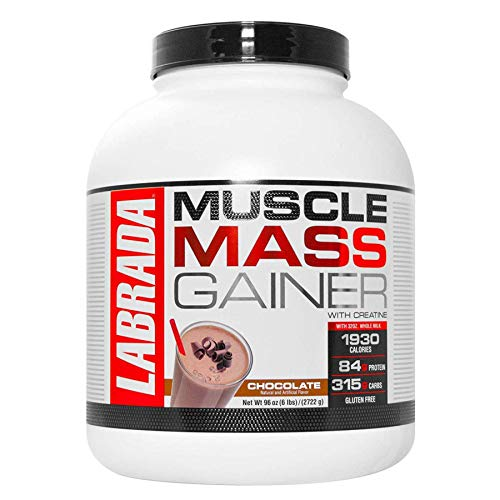 Labrada Nutrition Muscle Mass Gainer, Chocolate, 6 Pound