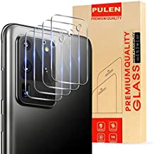 (4-Packs) PULEN for Samsung Galaxy S20 Ultra Camera Lens Protector,HD Clear Scratch Resistant Bubble Free Anti-Fingerprints 9H Hardness Tempered Glass