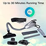 YOZO Vacuum Cleaner for Home 1000 watts Operating Voltage: 220-240 Volts/Blowing/Multi-Functional Portable Handheld Car Electric Vacuum/Blowing, Sucking, Dust Cleaning (Silver.)