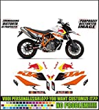 GRAPHICSMOTO set pegatinas decal stickers compatible lc8 990 sm super moto toro 2009 (ability to customize the colors)