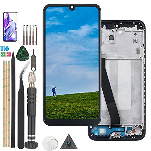 RongZy para Xiaomi Redmi 7 M1810F6LG M1810F6LH M1810F6LI LCD+Pantalla Táctil Digitalizador Asamblea Reemplazo +Reparación Herramientas(No para Redmi Note 7 Pro, ProAzul con Marco)