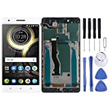 GUOHUI Replacement Parts LCD Screen and Digitizer Full Assembly with Frame for Lenovo K8 Note XT1902-3(Black) Phone Parts (Color : White)