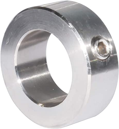 """Bore 1 11/16"""" Shaft Collar Set Screw Over Dia 2.5 Inches 304 Stainless Steel Silvrey 1Pcs"""