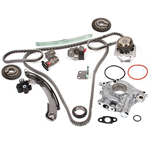 Evergreen TK3034WOPT Timing Chain Kit, Oil Pump, and Water Pump Compatible with 04-09 Nissan Altima Maxima Quest 3.5L VQ35DE