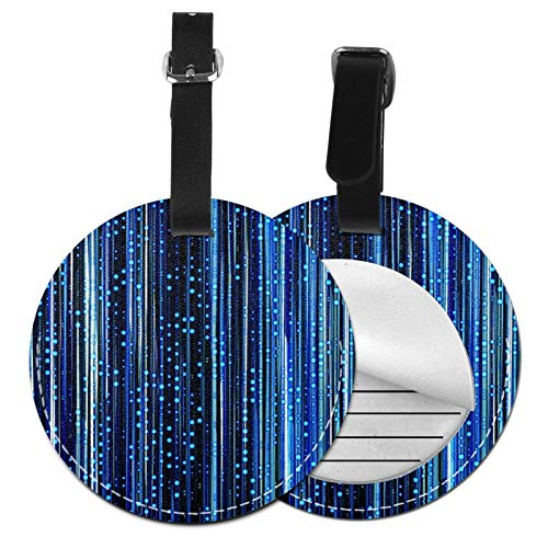Luggage Tags Computer Digital Stripes Tech Suitcase Luggage Tags Business Card Holder Travel Id Bag Tag