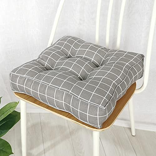 jHuanic Cojín grueso de 10 cm, cojín de asiento de silla, cojín de silla de jardín, cojín de asiento suave, para interiores y exteriores, comedor, oficina (50 x 50 x 10 cm, J)