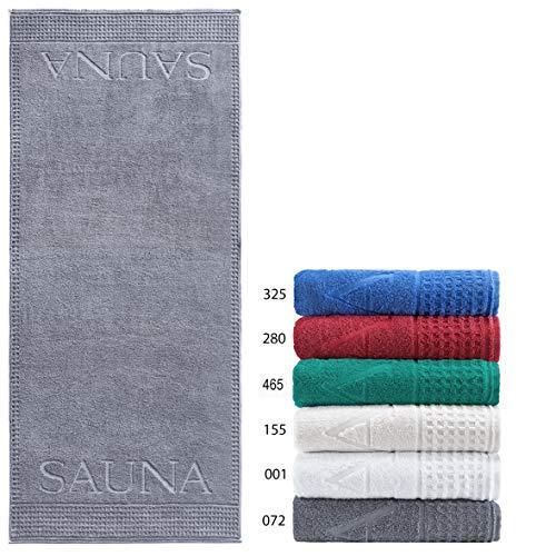 Naturawalk Saunatuch in Luxusqualität, 100% Bio Baumwolle, Grösse Saunatuch 80 x 200 cm, Farbe 081 anthrazit