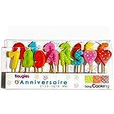 ScrapCooking 5006 15 Bougies 1,2,3 Ans, Paraffine, Multicolore, 10,5 x 17 x 2 cm