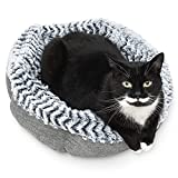 Pet Craft Supply Soho Round Calming Dog Bed For Small Dogs - Donut Dog Bed for All Seasons, Self Warming, Ultra Soft, Snuggly, and Washable Dog Bed is The Perfect Pet Bed for Dogs & Cats