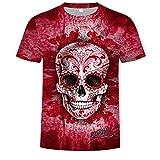 Summer Cool 3D Impreso Cuello Redondo Manga Corta Camiseta de Hombre