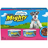 Purina Mighty Dog Small Breed Gravy Wet Dog Food Variety Pack, Porterhouse Steak & Tenderloin Tips...