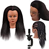 Hair Mannequin Head with 100% Real Hair Doll Head for Hair Styling Salon Training Head with Stand Cosmetology Mannequin Manikin Head Hairdresser Practice Head for Stylists Students Kids Beauty Schools