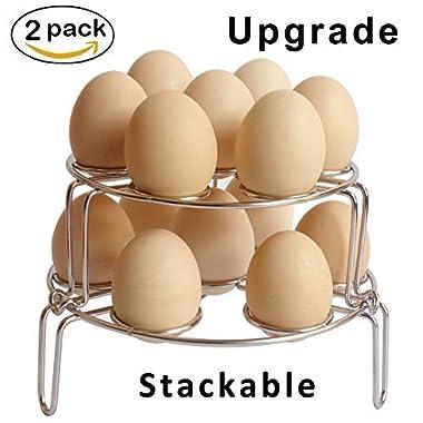 [Upgraded Version] Egg Steamer Rack,Egg Cooker Stackable Steamer Rack Trivet for Instant Pot and Pressure Cooker Accessories