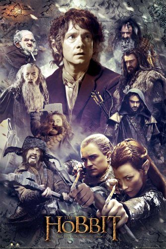 empireposter The Hobbit - Desolation of Smaug - Collage Vorankündigungsplakat Poster Druck - Grösse 61x91,5 cm