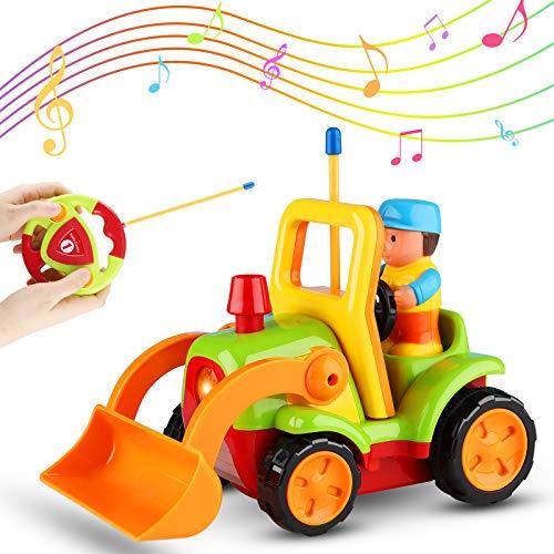Sirecal Coches Teledirigidos para Niños Pequeños con Música y Luz Juguetes de Racer Coche de Carreras Control Remoto Regalo de Cumpleaños para Niños Niñas Bebés