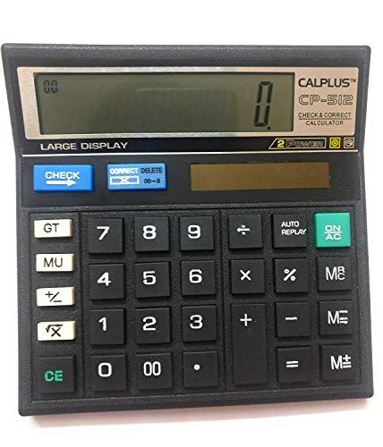 Calplus CP512 Calculator, Black, Set of 2
