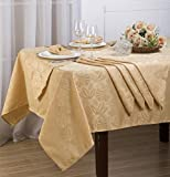 Royal Bedding Elaine Table Cloth Set, Luxury and Elegant Table Cloth Set with Napkins, Top Dinner Kitchen...