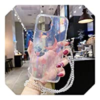 Perqo Vintage Laser Glitter Planet Star Phone Case For iPhone 11 12 Pro Max Mini X XR XS Max 7 8Plus SE 2021 Sky Soft Protection Cover-D-For iPhone 11Pro Max