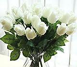 10 piezas nueva hermosa verdadera touch Brote Color de rosa de la flor artificial de látex para el hogar y para la boda decoración de la sala de estar del ramo arreglo floral de regalo de Navidad