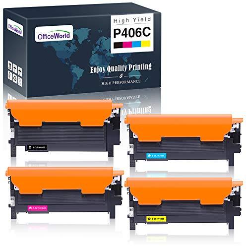 OfficeWorld Kompatibel Toner CLT-406S CLT-P406C CLT-K406S für Samsung Xpress C460W C460FW CLX-3305 C410W C460 CLX-3305FN CLP-360 CLP-365 CLX-3300
