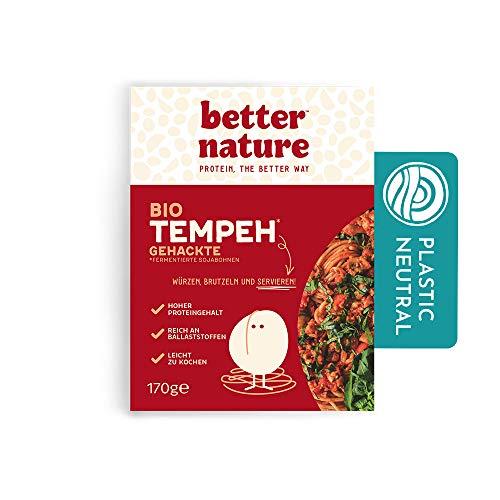 Better Nature vegane 100% BIO Fleischalternative Gehacktes aus Tempeh von Sojabohnen – 5x 170 g Packungen leckere pflanzliche alternative zu Hackfleisch mit vielen Proteinen und Ballaststoffen