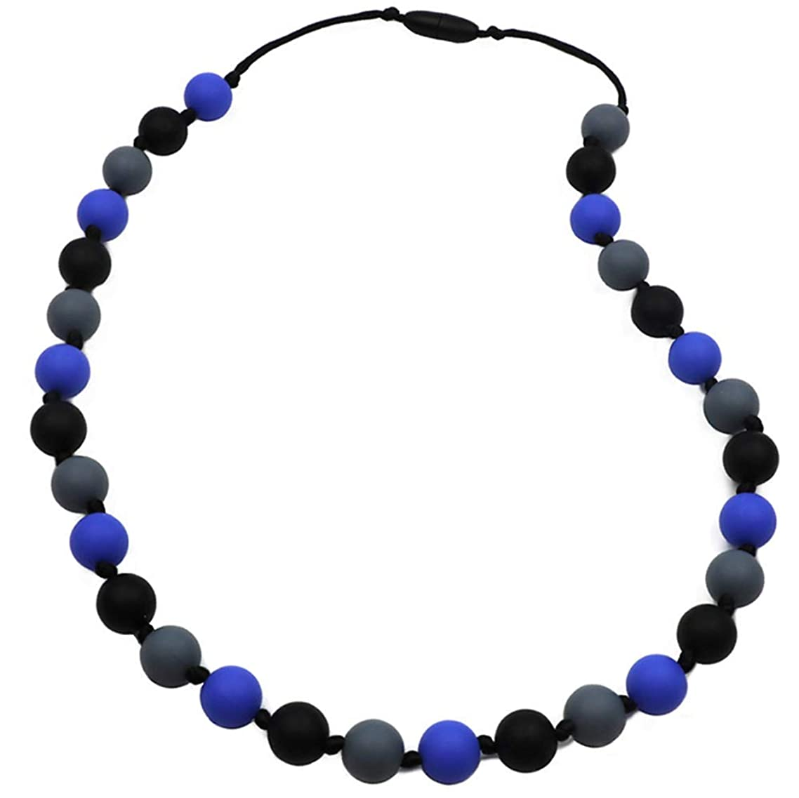 Chew Necklace for Sensory, Oral Motor Aide Autism Chewable Jewelry for Boys Girls - Calms Kids and Reduces Biting/Chewing/Fidgeting Silicone Chewy Toys