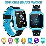 YENISEY GPS Smartwatch para Niños,WiFi Reloj Rastreador de TeléFono para Niñas y Niños Smartwatch con Monitor Remoto CáMara Linterna Reloj Despertador Juego de ConversacióN por Voz SOS Llamada