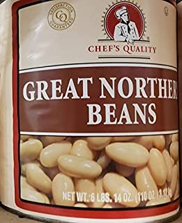 Chef's Quality Great Northern Beans 6 Lbs 15 Oz (3.15kg) Kosher (can beans not dry beans)