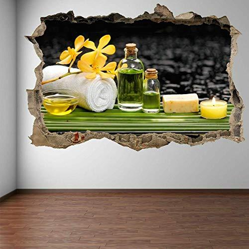 Muurstickers Spa Massage Kaars Muur Art Sticker Muurschildering Sticker Schoonheidssalon Winkel Decoratie