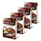 Emco Granola Chocolate y Almendras - Sin Gluten, Apto para Celíacos, Sin Trigo, Vegano - Paquete de 4 Cajas x 340 g