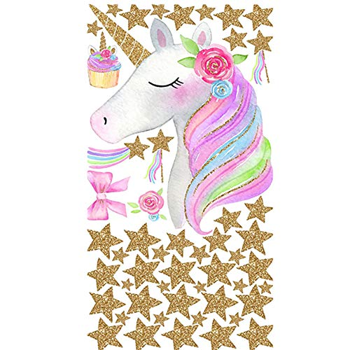 Chytaii. Pegatinas Decorativas Pared Niña Pegatinas Pared Decorativas Infantil Etiqueta De La Pared De Unicornio