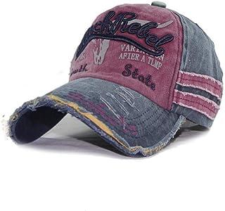قبعة بيسبول عصرية مغسولة للنساء والرجال في الهواء الطلق قبعة بيسبول رياضية للجنسين قبعات بشريط خلفي