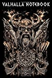 VALHALLA NOTEBOOK: Viking Odin Portrait with Huginn and Muninn and a Vegvisir Illustration Cover - 120 Pages Notebook and Sketchbook Urnes Style Viking Ship Pages