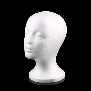 White Female Styrofoam Mannequin Manikin Head Model Foam Sponge Wig Hair Glasses Display Glasses Cap Display Stand