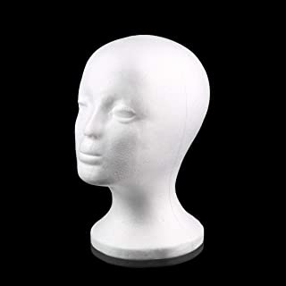 White Female Styrofoam Mannequin Manikin Head Model Foam Sponge Wig Hair Glasses Display Glasses Cap Display Stand
