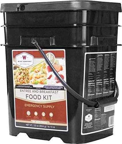 ReadyWise Emergency Food Supply, Freeze-Dried Survival-Food Disaster Kit, Camping Food, Prepper Supplies, Emergency Supplies, Gluten-Free Breakfast and Entrée Variety, 25-Year Shelf Life, 84 Servings